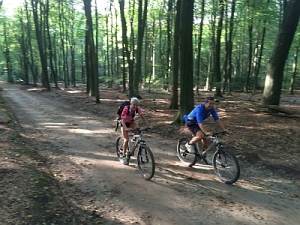 mountainbike met Spas